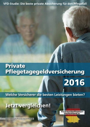 Private Pflegetagegeldversicherung 2016! - Die STUDIE