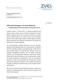 """ZVEI startet Kampagne """"Pro Smart Metering"""" - Intelligentes Wohnen"""