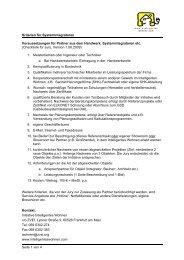 Kriterien und Partner Anmeldung - Intelligentes Wohnen