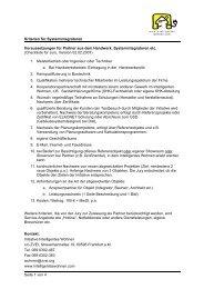 Kriterien für Systemintegratoren Seite 1 von 4 Voraussetzungen für ...