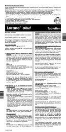Lorano® akut Tabletten - Apotheke