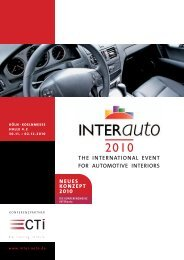 THE InTErnaTIonal EVEnT for aUToMoTIVE InTErIorS - INTERauto