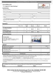 Bitte senden Sie Ihre Anmeldung per Fax an die +49 (0 ... - INTERauto