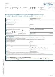 Antrag zur Gewerblichen Haftpflichtversicherung bei der INTER ...