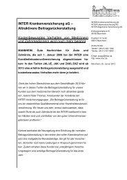 INTER Krankenversicherung aG – Attraktivere ...