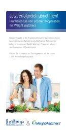 Flyer Kooperation INTER & Weight Watchers