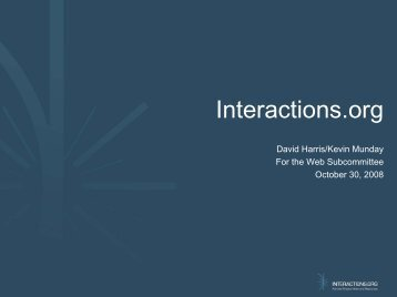 Important communication talk - Interactions.org