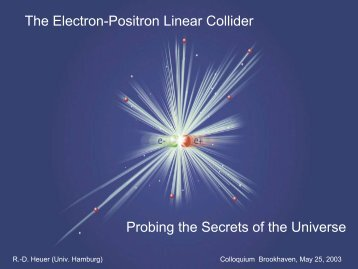 The Electron-Positron Linear Collider Probing the ... - Interactions.org