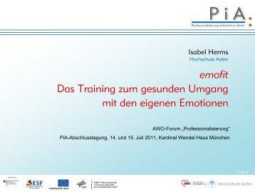 emofit - PiA-Professionalisierung interaktiver Arbeit
