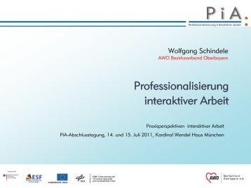 Professionalisierung interaktiver Arbeit - PiA-Professionalisierung ...