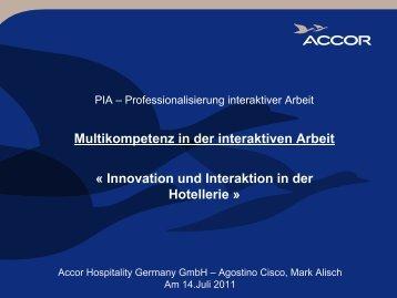 Multikompetenz in der interaktiven Arbeit - PiA-Professionalisierung ...