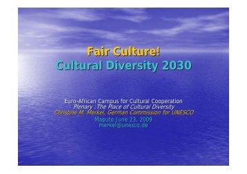 Fair Culture! Cultural Diversity 2030 - Interarts