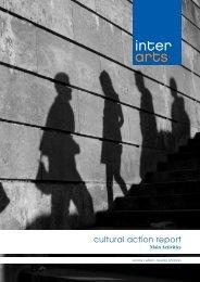 Cultural action report. Main activities - Interarts
