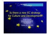 Is there a new EC strategy for Culture and Development? - Interarts