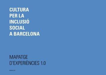 cultura per la inclusió social a barcelona mapatge d'experiències 1.0