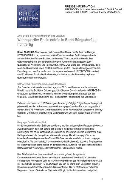 2013_02 Rhein Entrée Richtfest - Interboden