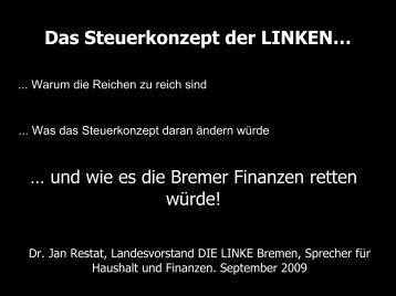 Das Steuerkonzept der LINKEN… - DIE LINKE in Bremen