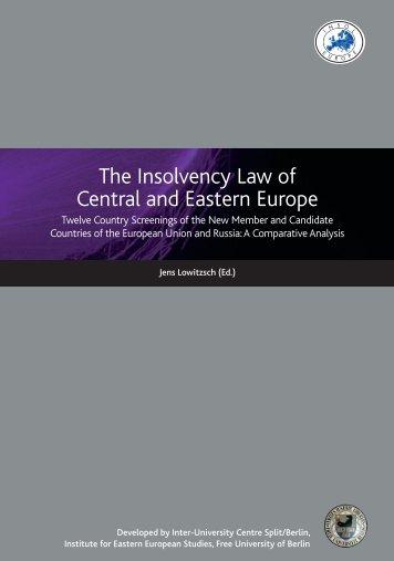 The Development of Insolvency Procedures in ... - Intercentar