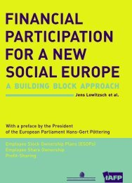 Financial Participation for a New Social Europe - Intercentar
