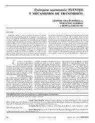 Cyclospora cayetanensis: FUENTES Y MECANISMOS ... - Interciencia