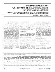 modelo de simulación para estimar el balance calórico ... - Interciencia
