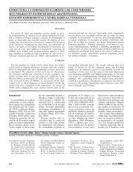 estructura y composición florística de comunidades - Interciencia