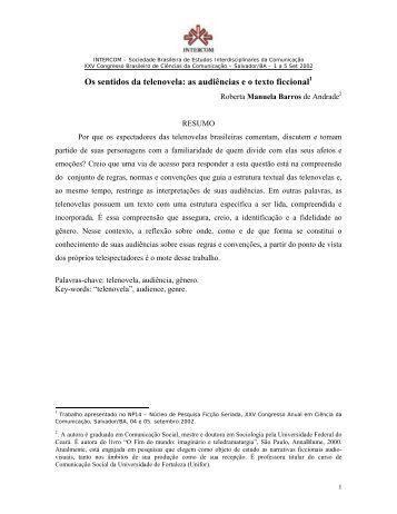 Os sentidos da telenovela: as audiências e o texto ficcional - Intercom
