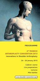 Programm - Heidelberg Shoulder Convention 2014