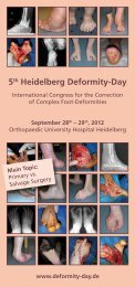 Programme - 5th Heidelberg Deformity-Day, International Congress ...
