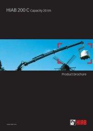 HIAB 200 C Capacity 20 tm Product brochure - INTERCON Truck ...