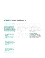 Product Brief Nortel Business Communications Manager 50