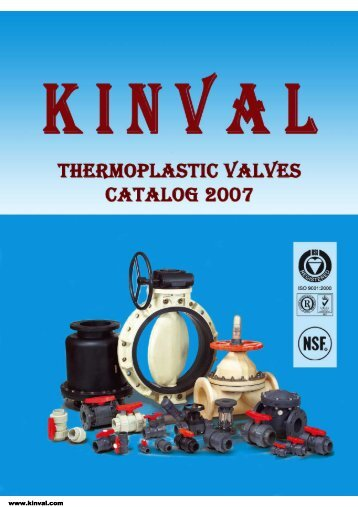 KINVAL Plastic Valves Catalog 2007 - Interempresas