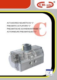 Catálogo actuadores neumáticos serie C - Interempresas