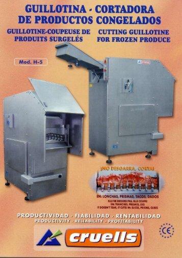 Guillotina cortadora de productos congelados H5 - Interempresas