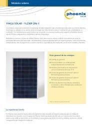 YINGLI SOLAR – YL230P-29b-1 Módulos solares - Interempresas