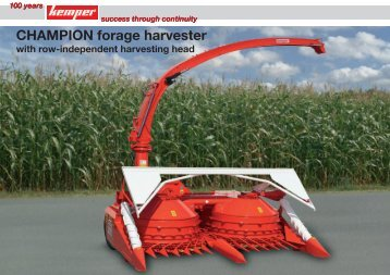 CHAMPION forage harvester - Interempresas
