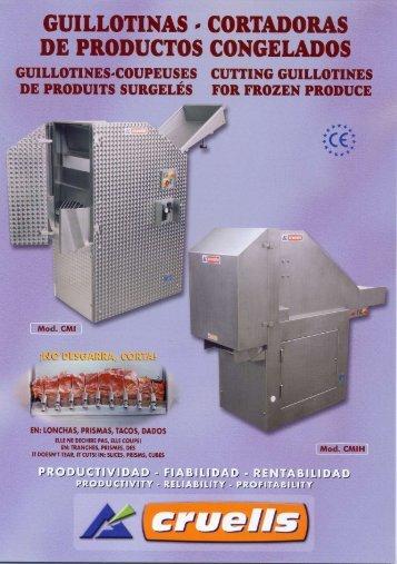 Guillotina cortadora de productos congelados CMI ... - Interempresas
