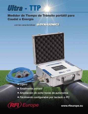 Medidor de Tiempo de Tránsito portátil para Caudal ... - Interempresas