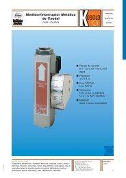 Medidores interruptores de caudal - Interempresas