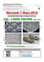 07.03.2012 LINGE ANCIEN - Interencheres