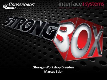 Crossroads LTFS-Appliance Strongbox - interface:systems