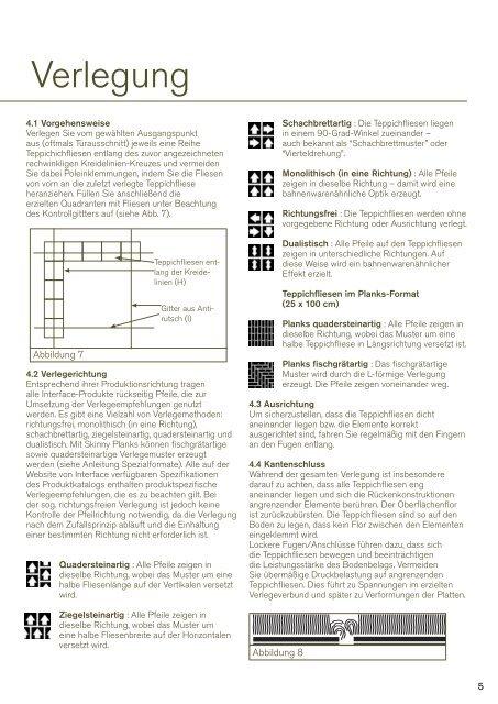 Verlegeanleitung für Teppichfliesen - bei Interface