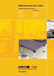 MERO Access Floor Type 5 / Wood - Interflooring