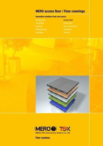 MERO access floor / Floor coverings - Interflooring