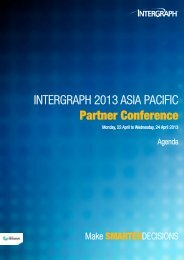 Intergraph 2013 asIa pacIfIc Partner Conference