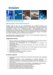 HR Generalist / Personalreferent (m/w) - Intergraph