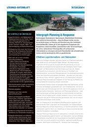 Intergraph Planning & Response (Flyer)