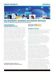 Überblick Intergraph Geospatial 2013 Desktop-Portfolio