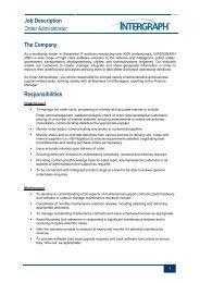 Job Description - Intergraph