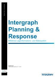 Intergraph Planning & Response White Paper